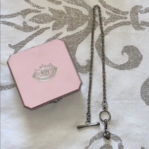 Juicy couture gunmetal chain necklace